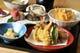 季節の新鮮な魚介・野菜を使った充実の天麩羅コース