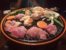 炭火で味わう美味しい鶏肉