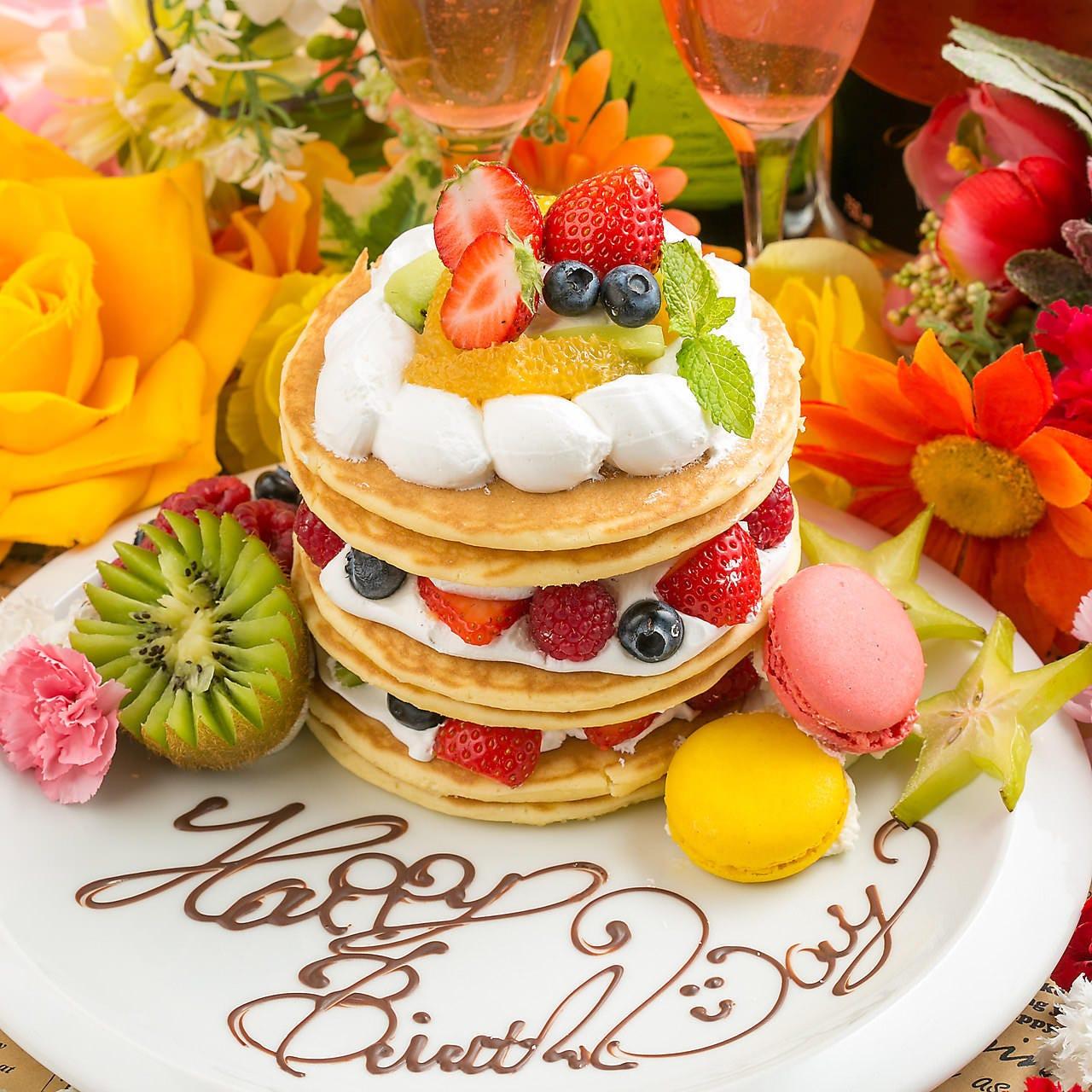 誕生日はお祝いプレートプレゼント♪