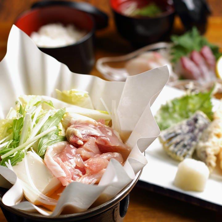 鴨小鍋を楽しむ会席4000円(税抜)~ 普段より少し贅沢なお食事に