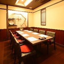 完全個室で優雅にお食事