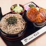 名物ソースカツ丼と信州蕎麦が一緒に楽しめる、大変お得なセット
