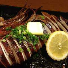 北海道産イカ丸ごとバター焼き