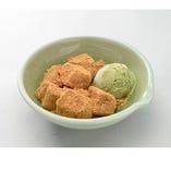 京風わらび餅と抹茶アイス