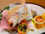 鯛の姿焼き 2,600円 (要予約)