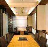 最大16名様(8名部屋×2間)のテーブル個室。