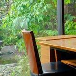 1階 お庭の見えるテーブル席