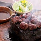 馬肉の石焼ステーキ