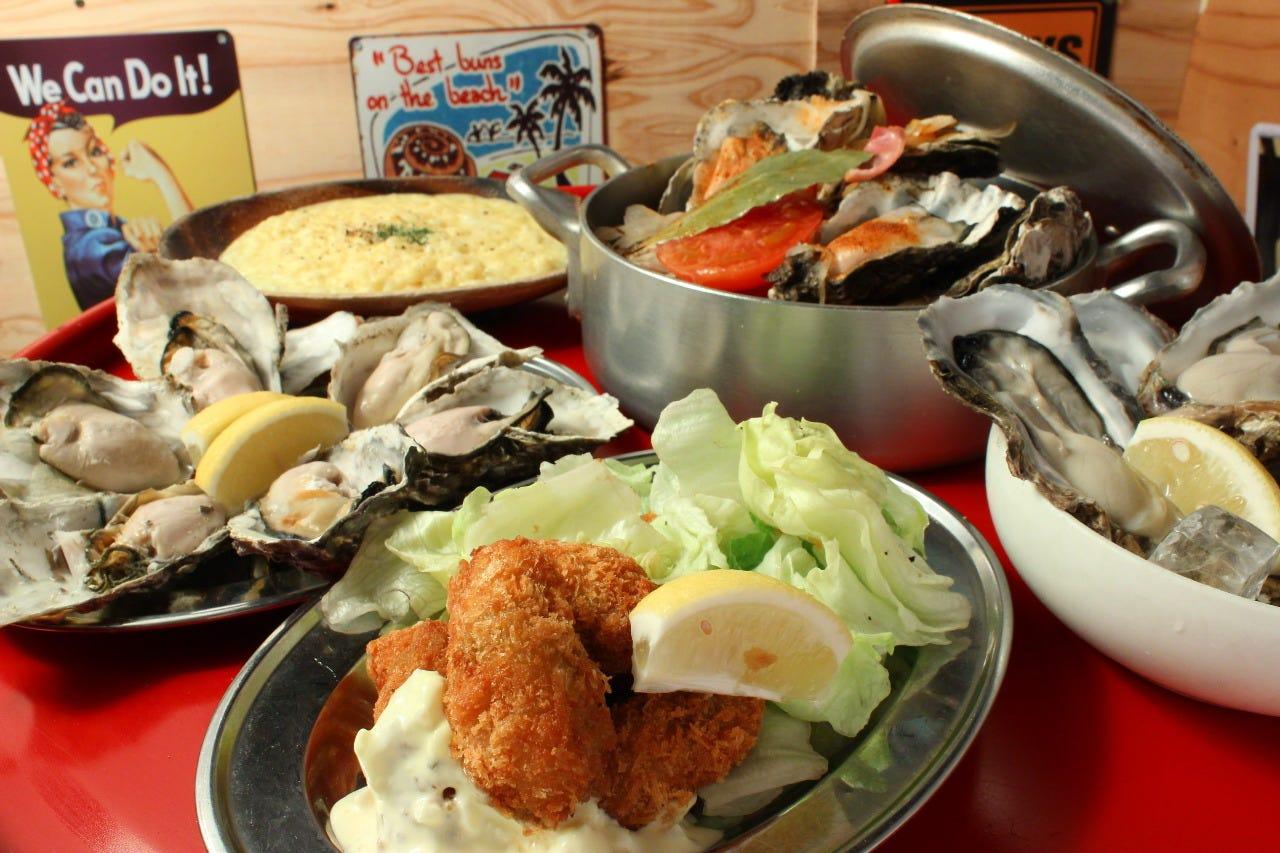 ぷりっぷりの蒸し牡蠣が食べ放題!