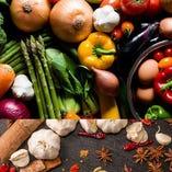 当店自慢は国内産の野菜を使用【国内】
