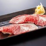 霜降牛炙り寿司