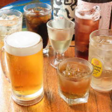 種類豊富な飲み放題