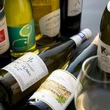 白ワイン一例、メニューリストの他にも多数ご用意しています。