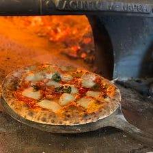 本格窯焼きピザを堪能