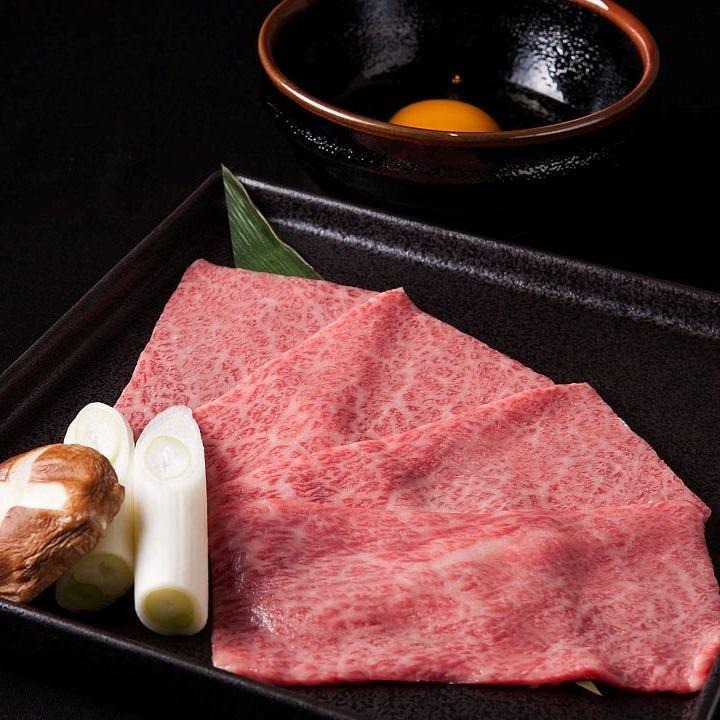 厳選お肉の希少部位を贅沢に焼きすきで味わう至福のひととき