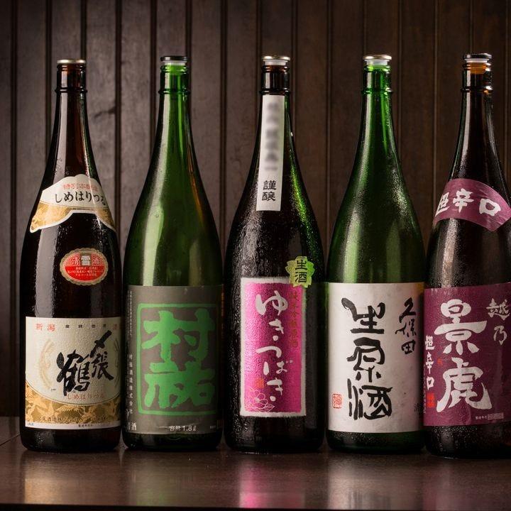 地酒や焼酎などお酒の種類が豊富