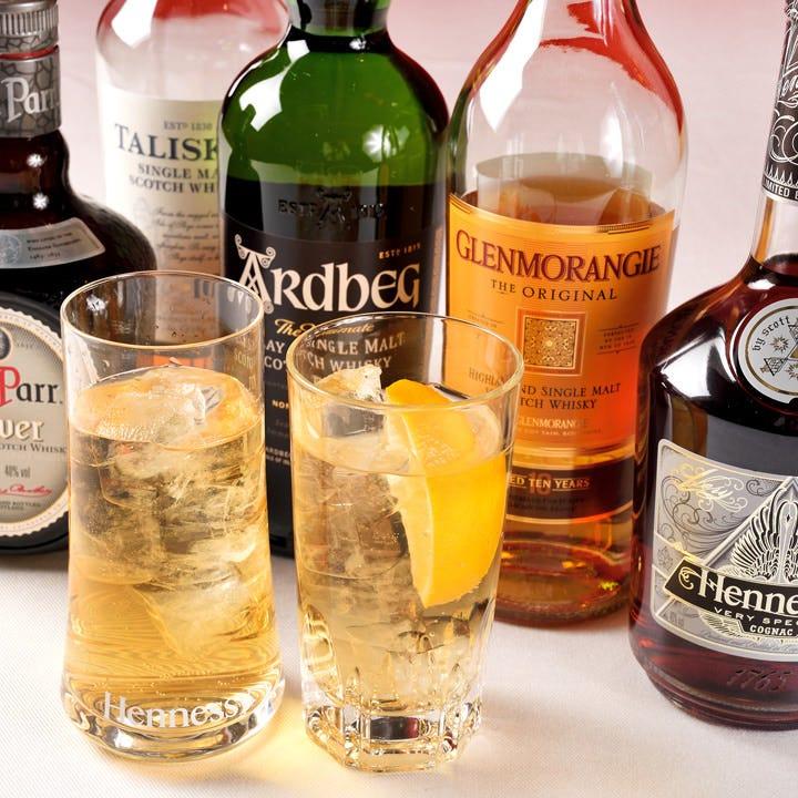 スコッチウイスキーや仏のブランデーでプレミアムなハイボール