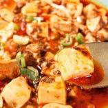 オリジナルのラー油を効かせた四川麻婆豆腐は絶品です
