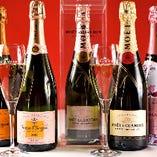 シャンパンやスパークリングワインもどうぞ