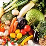 シェフが選り抜く、新鮮野菜