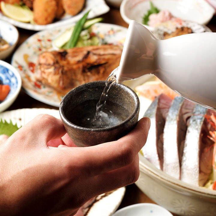 季節に合わせた料理と厳選銘酒で一献