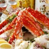 ● 北海・本タラバ蟹の半身造り