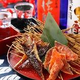 ● 鮭とば・ほっけの燻製 2種盛り合わせ