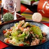 ● ~名物~極・カニぶっかけ&季節野菜のサラダ