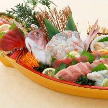 新鮮魚介とこだわりのお酒を愉しむ!