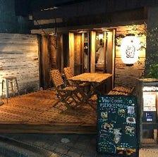 ◆隠れ家的店内◆個室・テラス席完備