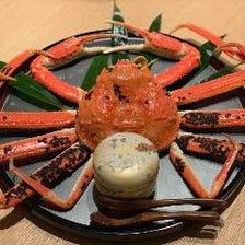 越前ズワイ蟹・セイコ蟹 フルコース