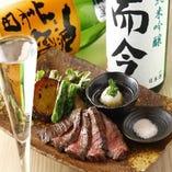 自慢の創作料理と自慢の日本酒とご一緒にお楽しみください♪
