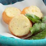 芋もちのクリームチーズのせ