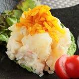カレー沢庵とポテトサラダ