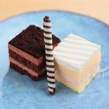 【一口ケーキ】バニラ&ショコラ