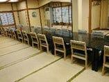 25名様までのお席が椅子席、座布団席と選んで頂けます。