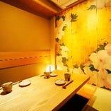接待などに最適な優雅で和の趣を感じる完全個室を多彩にご用意