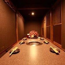 完全個室でプライベートな空間
