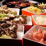 きのこだけでも7種類!味や食感が異なるので食べ比べも楽しい◎