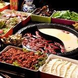 番茄鍋(トマトスープ鍋)/濃湯鍋(濃厚スープ鍋)/菌湯鍋(キノコ鍋)からお選びください