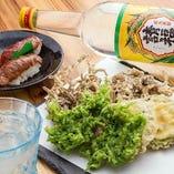 島の食材を天ぷらに!泡盛のアテに最高です♪