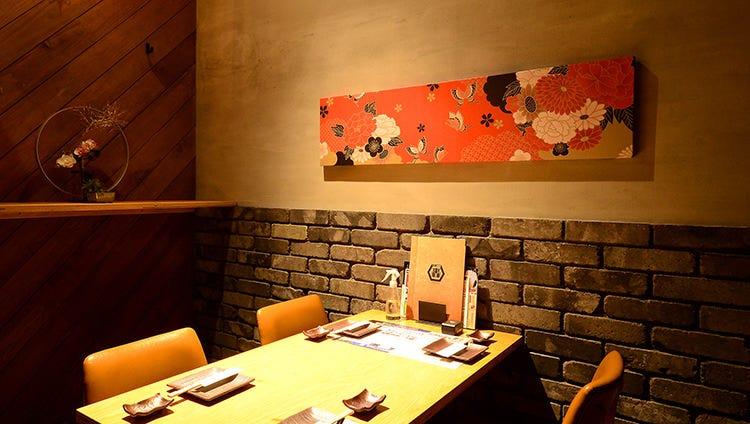 テーブル席・完全個室(壁・扉あり)・1名様~6名様