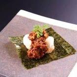ふろしき肉味噌モッツァレラ