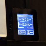 二酸化炭素濃度を測定し数値に合わせ店内の換気を行います
