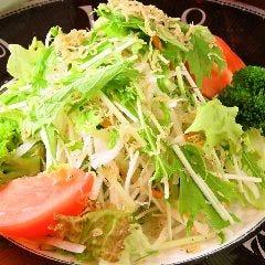 大根と水菜、揚げじゃこのサラダ