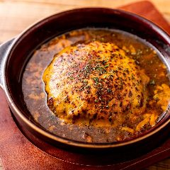 オニオンチーズグラタンハンバーグ