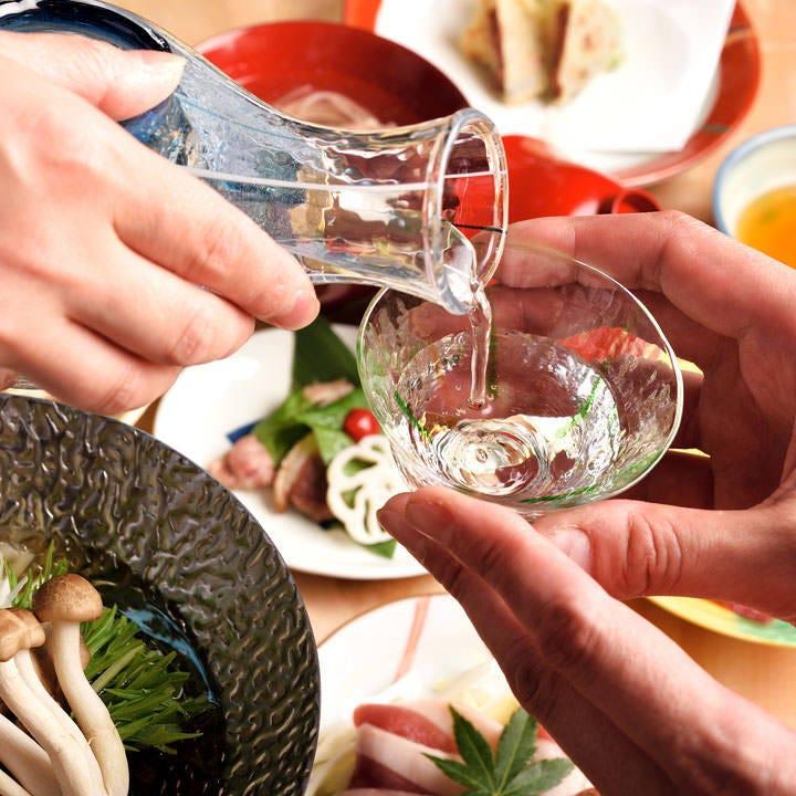 四季毎に変わる料理と日本酒を堪能