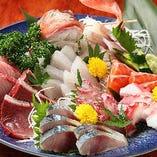 本気のお刺身盛り合わせ!!脂の乗った旬鮮魚を堪能して下さい