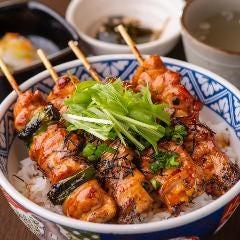 焼き鳥丼(鳥スープ付)