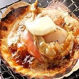 ホタテバター醤油炭火焼